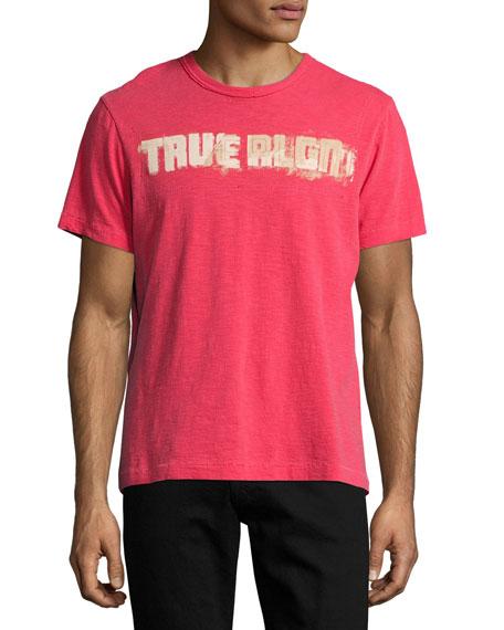 Vintage Football Logo T-Shirt, Ruby