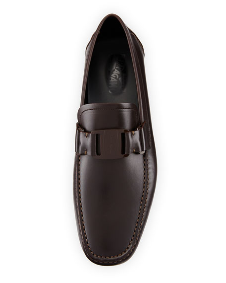 Leather Driver, Dark Brown