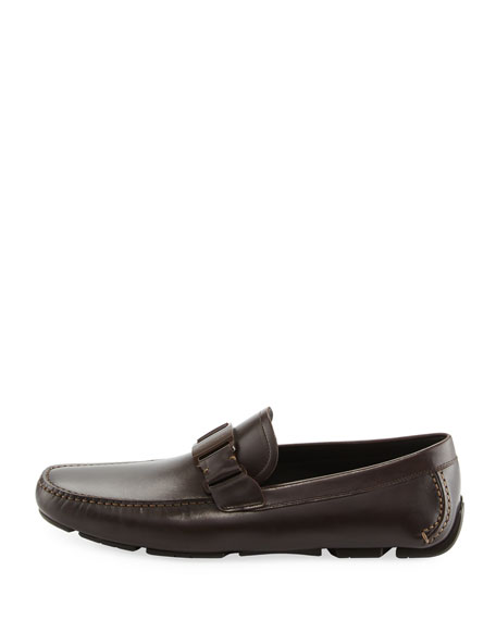 Men's Leather Driver, Dark Brown