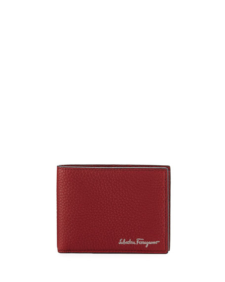 Firenze Leather Bi-Fold Wallet, Red