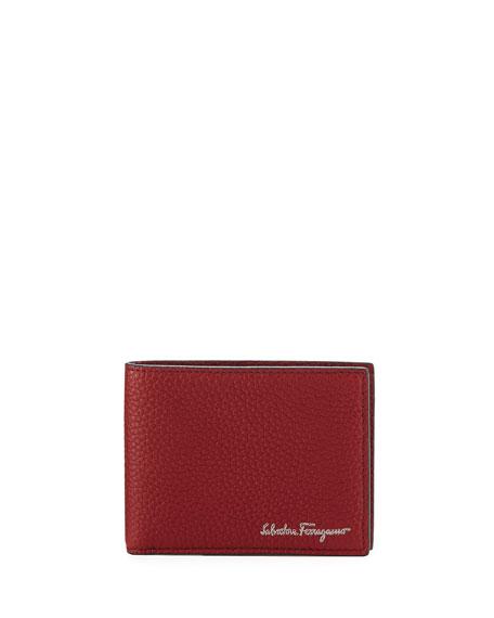 Men's Firenze Leather Bi-Fold Wallet, Red