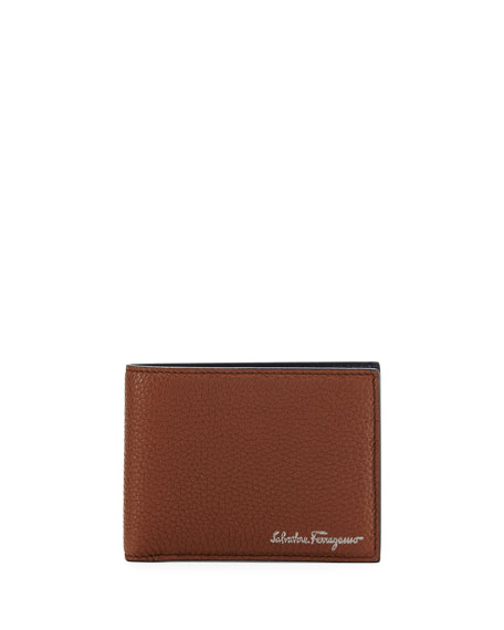 Salvatore Ferragamo Firenze Leather Bi-Fold Wallet, Brown