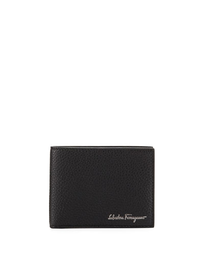 Firenze Leather Bi-Fold Wallet, Black