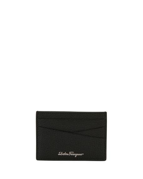 Firenze Leather Card Case, Black