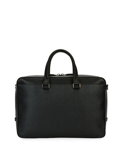 Revival Leather Laptop Briefcase, Gray