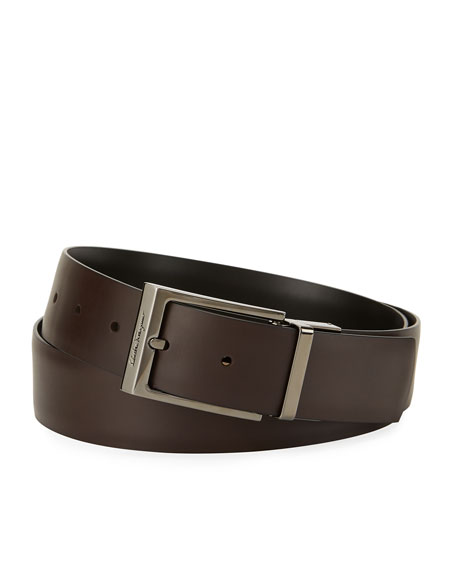 Salvatore Ferragamo Paloma Reversible Leather Belt, Brown/Black