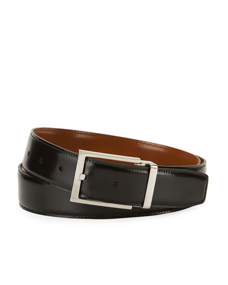 Salvatore Ferragamo Reversible Lux Calfskin Leather Belt,