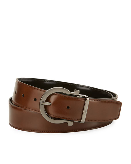 Quick Look. Salvatore Ferragamo · Men s Reversible Leather Gancio Buckle  Belt 24de9717a0