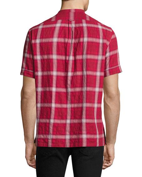 Crosby Plaid Short-Sleeve Shirt, Red