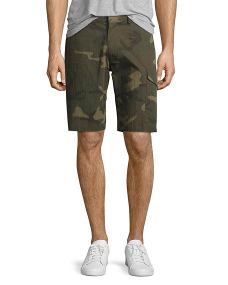 Ovadia & Sons Camo-Print Cargo Shorts, Green
