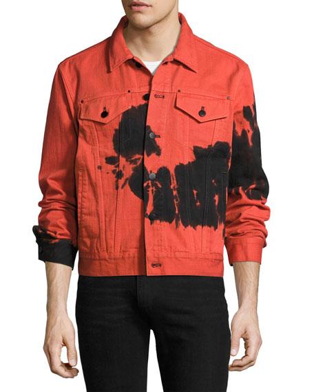 Tie-Dye Denim Jacket, Red/Black