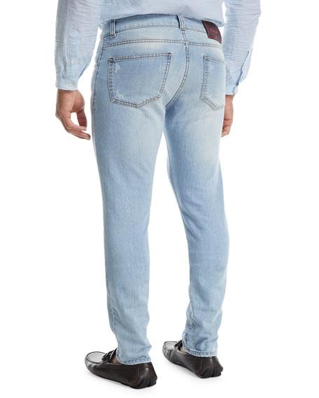 Dark Wash Straight-Leg Jeans, Blue