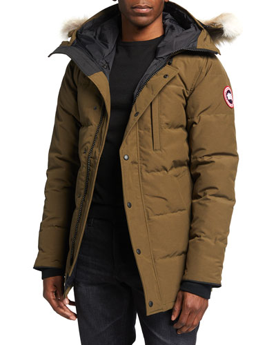 Carson Down Parka with Fur-Trim Hood, Graphite