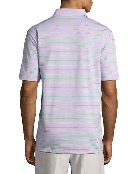 Tradeshow Striped Stretch-Jersey Polo Shirt