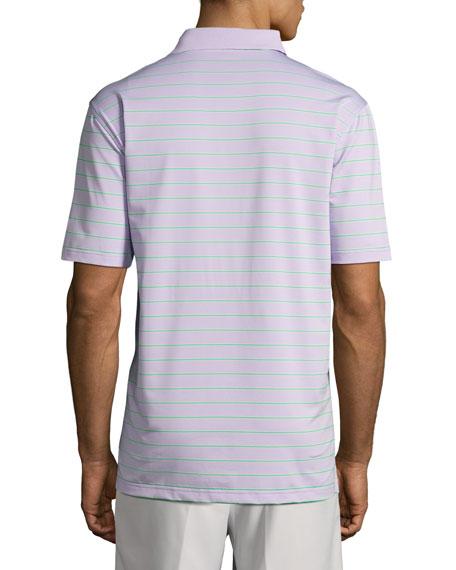 Tradeshow Striped Stretch-Jersey Polo Shirt