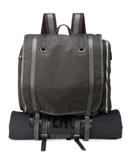 Givenchy Nylon Camper Rucksack Bag/Backpack with Logo, Black