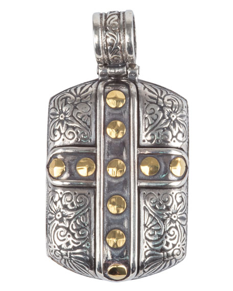 Konstantino Men's Sterling Silver & 18K Gold Cross