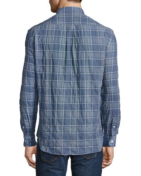 Randall Plaid Sport Shirt, Blue