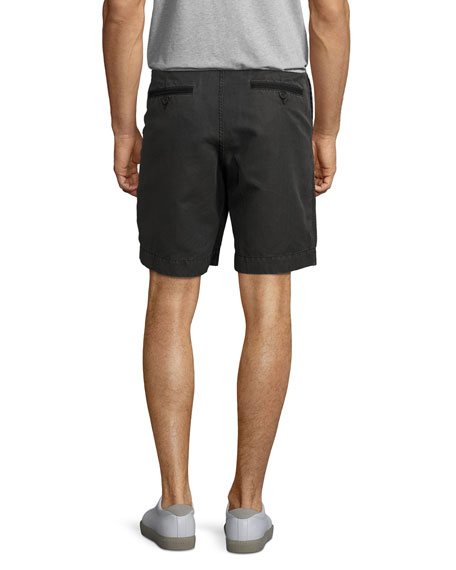 Clyde Cotton-Linen Shorts, Faded Black