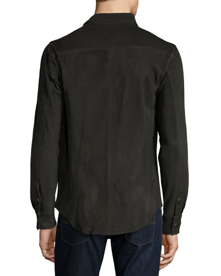 Suede Work Shirt, Charcoal