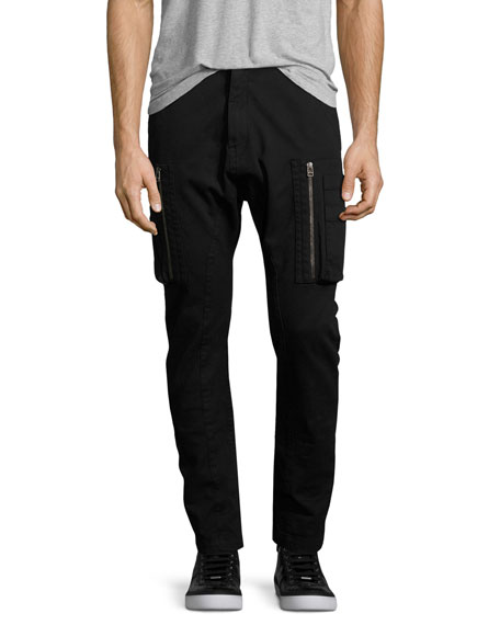 Helmut Lang Slim-Fit Utility Cargo Pants, Black