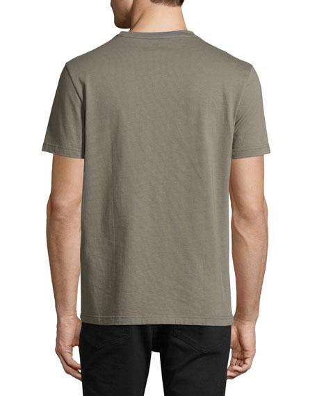 Patch-Pocket Crewneck T-Shirt, Olive