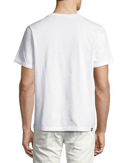 Argyle Inverted Logo T-Shirt, White