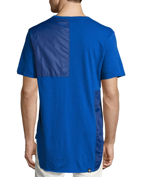 Tonal Patchwork T-Shirt, Blue