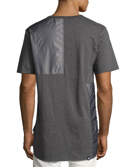 Tonal Patchwork T-Shirt, Gray