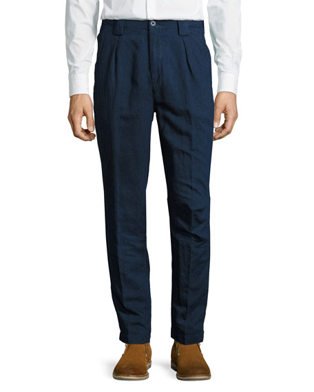 Etro Panama-Fit Dark-Rinse Denim Pants, Blue