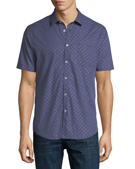 The Good Man Brand Graph Gingham Short-Sleeve Cotton