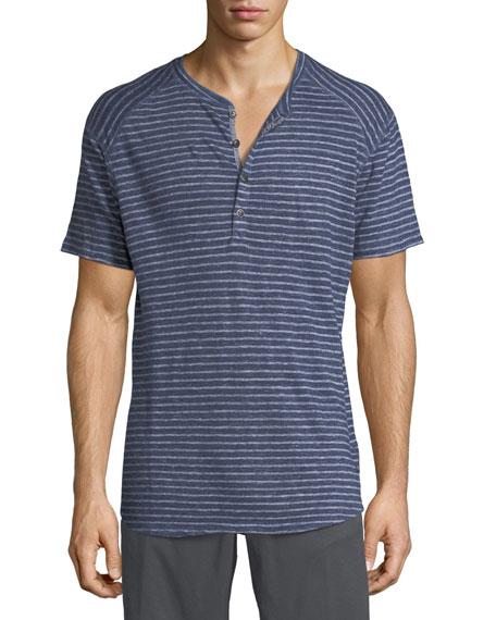 The Good Man Brand Striped Slub Jersey Short-Sleeve