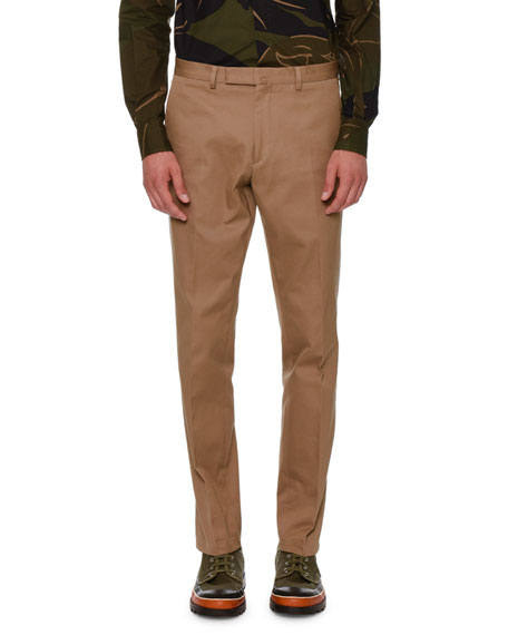 Valentino Rockstud Untitled Chino Trousers, Beige