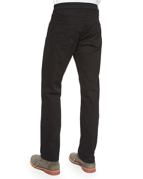 Men's Kane Straight-Leg Twill Pants, Charcoal