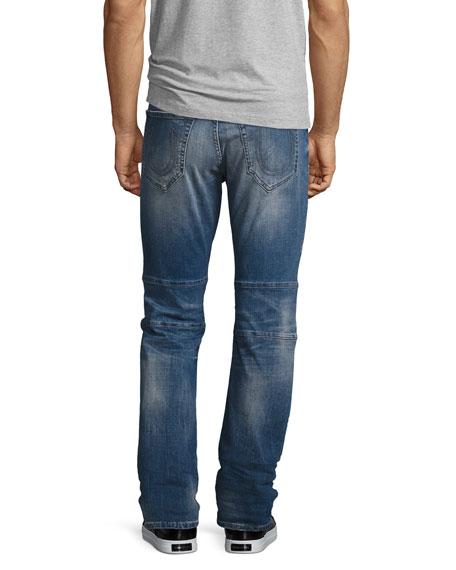 Geno Simple Moto Slim-Straight Jeans, Blue