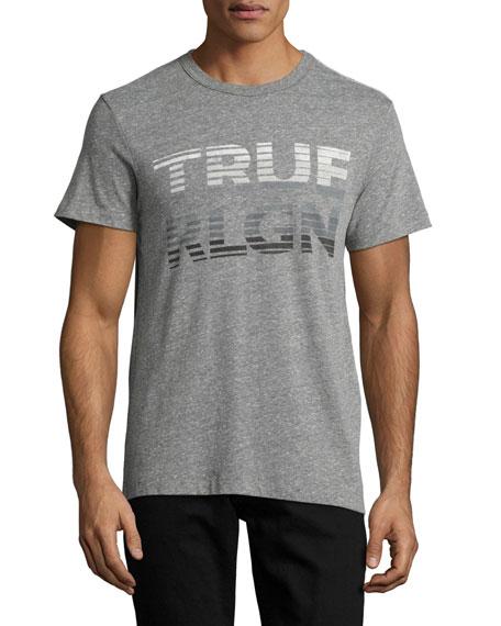 Fading Logo Graphic T-Shirt, Gray