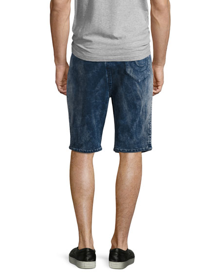 Decayed Terry Sweat Shorts, Blue