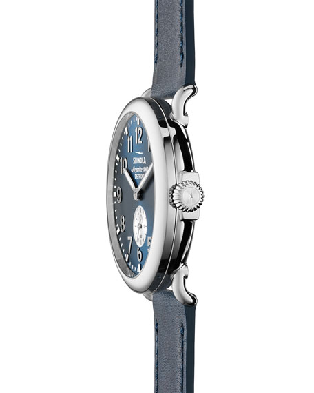 Men's 41mm Runwell Watch, Midnight Blue/Ocean