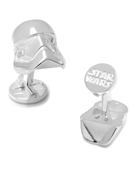 3D Star Wars Stormtrooper Sterling Silver Cuff Links