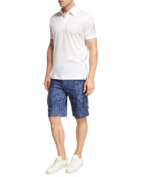 Floral-Print Cargo Shorts