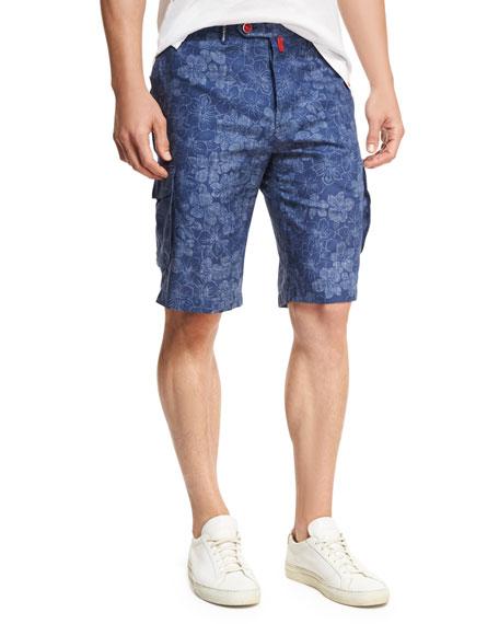 Floral-Print Cargo Shorts