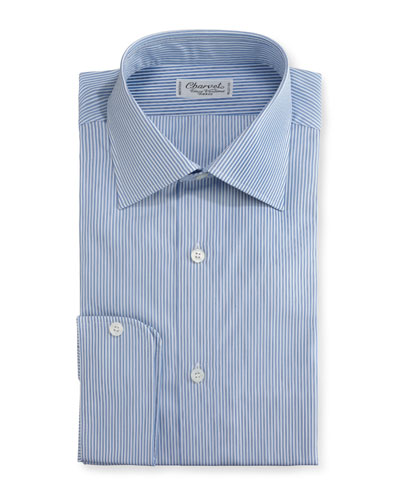 Striped Dress Shirt, Blue