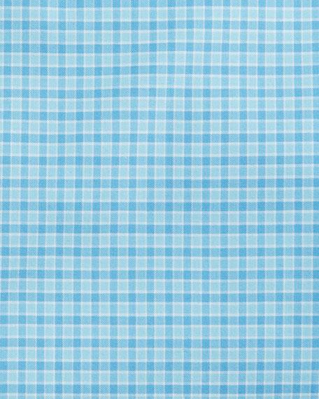 Mini-Check Dress Shirt, Blue/Teal