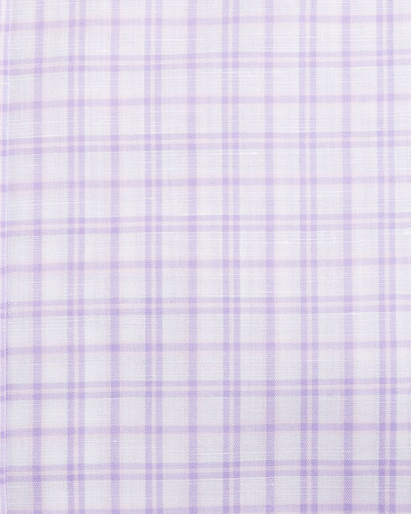 Check Dress Shirt, Purple/White
