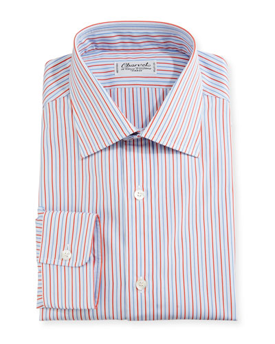 Striped Dress Shirt, Red/Blue/White