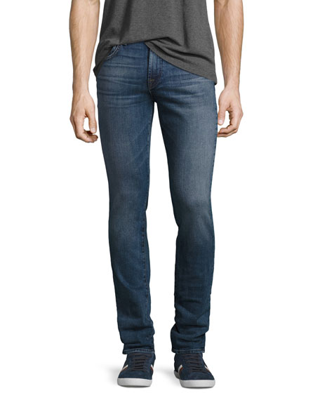 7 For All Mankind Paxtyn Skinny Jeans, Medium Blue
