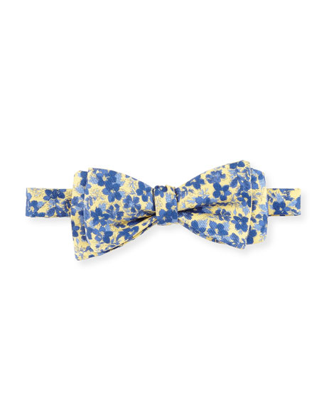 Edward Armah Floral & Dot Reversible Bow Tie,
