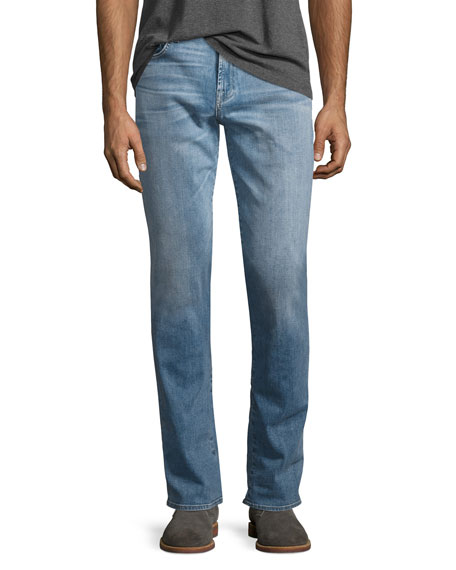 7 For All Mankind Luxe Performance: Straight-Leg Jeans,