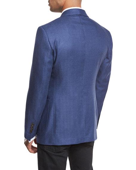 O'Connor Base Hopsack Sport Coat, Denim Blue