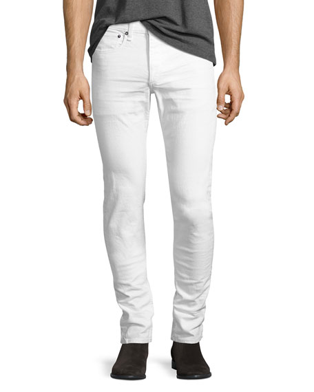 Rag & Bone Standard Issue Fit 1 Slim-Skinny Jeans, White